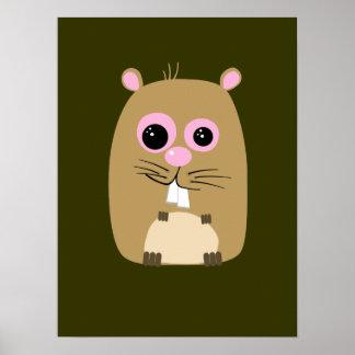 Cartoon Hamster Poster