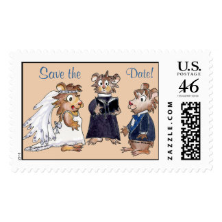 Cartoon Hamsters Wedding Postage
