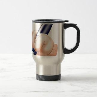 Cartoon hand and pen coffee mug