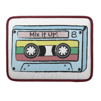Cartoon Hand Drawn Cassette Tape (Mix It Up -A&B) MacBook Pro Sleeve