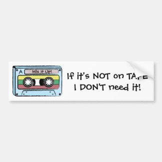 Cartoon Hand Drawn Cassette Tape (Mix It Up) Car Bumper Sticker