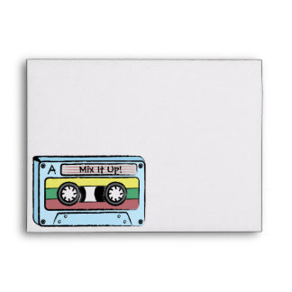Cartoon Hand Drawn Cassette Tape (Mix It Up) Envelopes