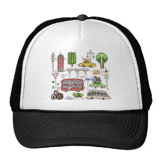 Cartoon hand painted design mesh hat