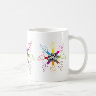 Cartoon Hands (color) Classic White Coffee Mug