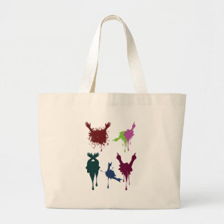 Cartoon Hands with Gestures 3 Large Tote Bag