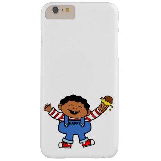 Cartoon Happy Boy holding Ice Cream Barely There iPhone 6 Plus Case