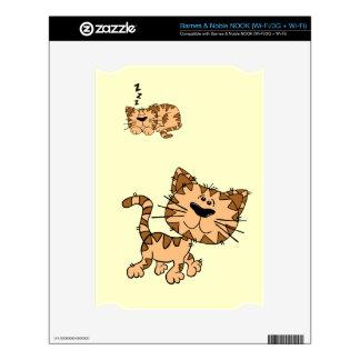 Cartoon Happy Cat Barnes & Noble Nook Skin