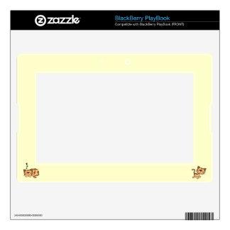 Cartoon Happy Cat Blackberry Playbook Skin