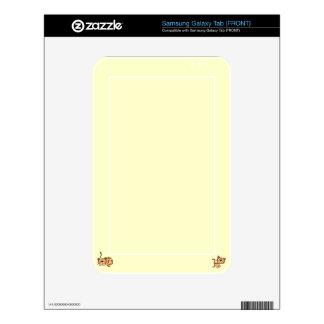 Cartoon Happy Cat  Samsung Galaxy Tab Samsung Galaxy Tab Skins