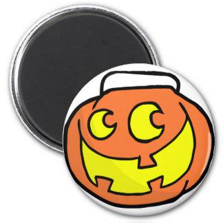 Cartoon Happy Halloween Pumkin 2 Inch Round Magnet