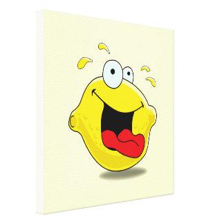 Cartoon Happy Lemon Canvas Prints