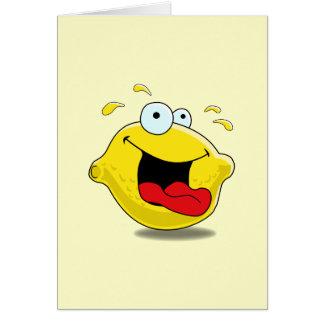 Cartoon Happy Lemon Card