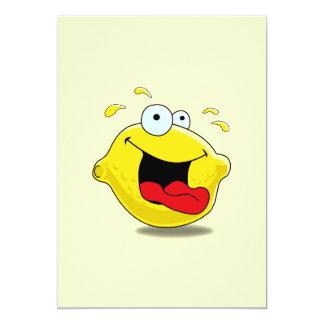 Cartoon Happy Lemon Invitation