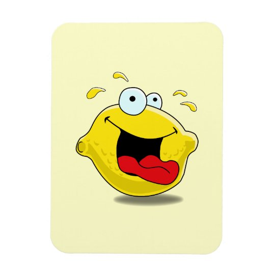 Cartoon Happy Lemon Magnet
