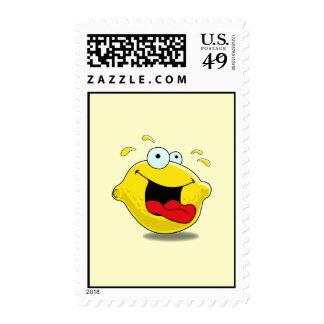 Cartoon Happy Lemon Postage
