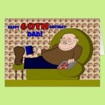 Cartoon Happy Sixtieth Birthday Dad Card
