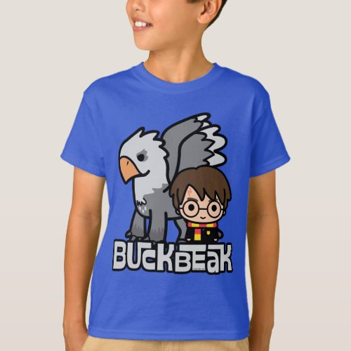 Cartoon Harry Potter and Buckbeak T_Shirt