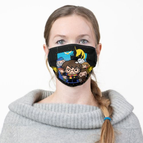 Cartoon Harry Potter and the Sorcerers Stone Adult Cloth Face Mask