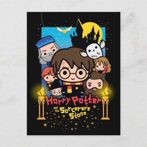 Cartoon Harry Potter and the Sorcerers Stone Postcard