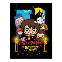 Cartoon Harry Potter and the Sorcerer's Stone Postcard