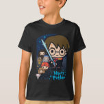 """Cartoon Harry Potter Chamber of Secrets Graphic T-Shirt<br><div class=""""desc"""">Check out this cute Harry Potter cartoon graphic for the Chamber of Secrets,  featuring Harry with the sword of Gryffindor,  Dobby,  Hermione,  Ron,  Dumbledore,  and Hagrid.</div>"""