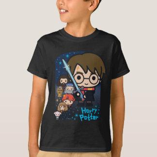 Cartoon Harry Potter Chamber of Secrets Graphic T-Shirt