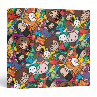 Cartoon Harry Potter Character Toss Pattern 3 Ring Binder