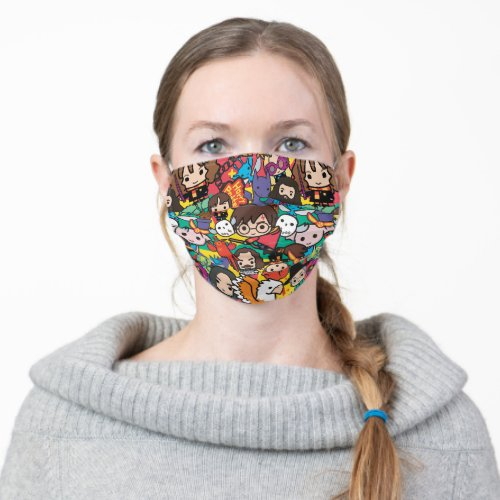Cartoon Harry Potter Character Toss Pattern Adult Cloth Face Mask