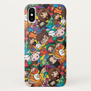 wholesale dealer ab4bf 73ca8 Cartoon Harry Potter Character Toss Pattern iPhone X Case