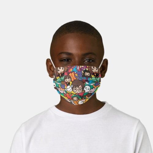 Cartoon Harry Potter Character Toss Pattern Kids Cloth Face Mask