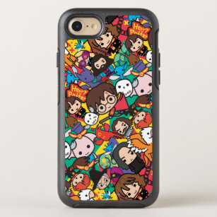 5a89d6da3b Cartoon Harry Potter Character Toss Pattern OtterBox Symmetry iPhone 8/7  Case