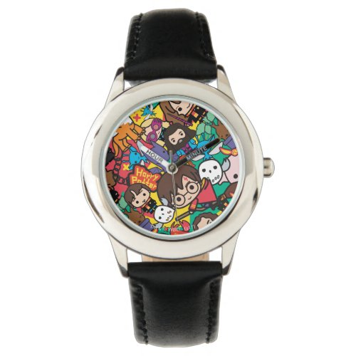Cartoon Harry Potter Character Toss Pattern Wristwatch