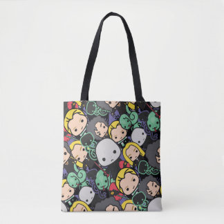 Cartoon Harry Potter Death Eaters Toss Pattern Tote Bag