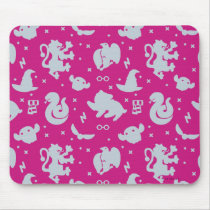 Cartoon Harry Potter Magic Icons Toss Pattern Mouse Pad