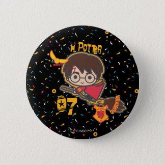 Cartoon Harry Potter Quidditch Seeker Pinback Button