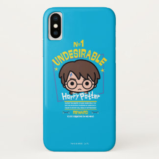 Cartoon Harry Potter Wanted Poster Graphic iPhone X Case