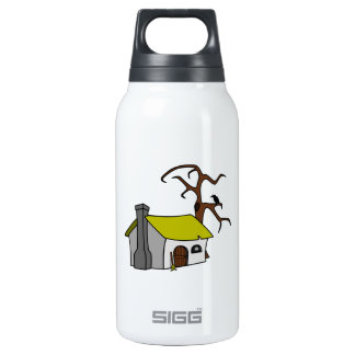 Cartoon Haunted House 10 Oz Insulated SIGG Thermos Water Bottle