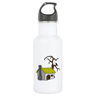 Cartoon Haunted House 18oz Water Bottle