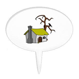 Cartoon Haunted House Cake Topper