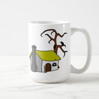 Cartoon Haunted House Classic White Coffee Mug