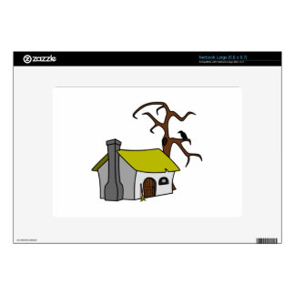 Cartoon Haunted House Decals For Large Netbooks