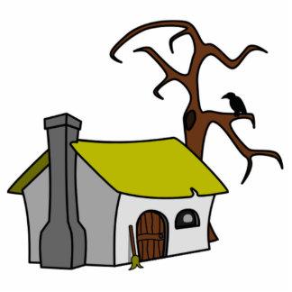 Cartoon Haunted House Standing Photo Sculpture