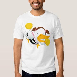 Cartoon Hearts Duck Cheerleader T Shirt