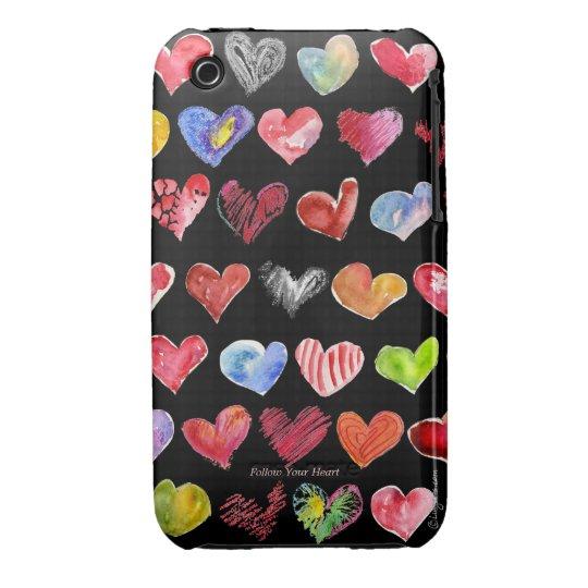 Cartoon Hearts iphone 3G/3GS Case-Mate Black Case-Mate iPhone 3 Case