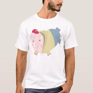 Cartoon Hearts Pig Teen T-Shirt