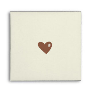 Cartoon Hearts Save the Date envelope