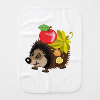 cartoon hedgehog baby burp cloth