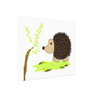 Cartoon Hedgehog Canvas Print