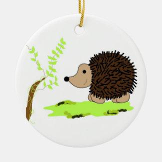 Cartoon Hedgehog Ceramic Ornament