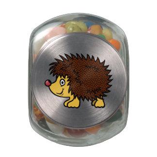 Cartoon Hedgehog Glass Jar